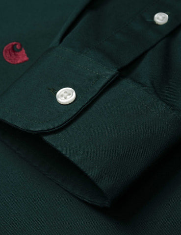 Carhartt Madison Shirt - Dark Fir Green / Merlot Red