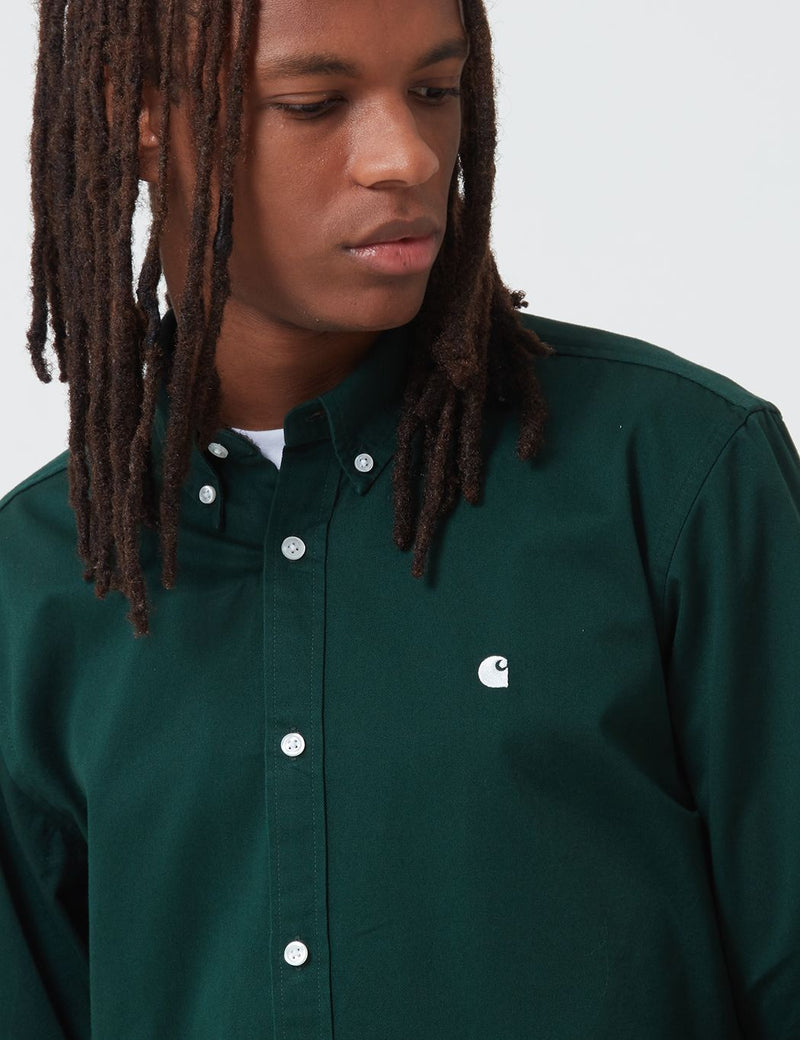 Carhartt-WIP Madison Shirt - Bottle Green/Wax