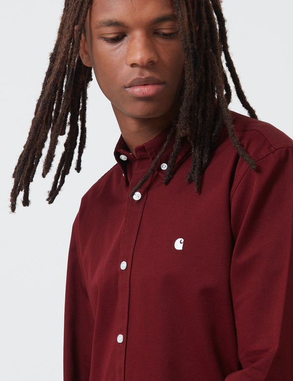 Carhartt-WIP Madison Shirt - Bordeaux/Wax