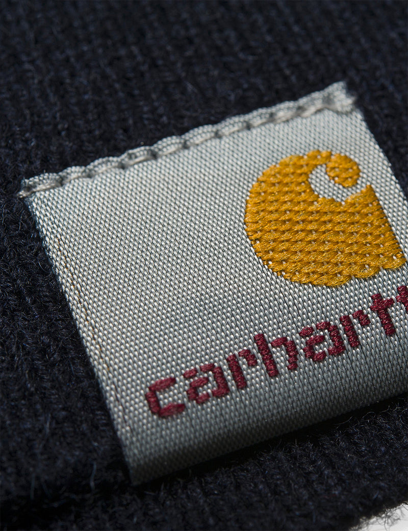 Carhartt-WIP Playoff Turtleneck Sweater (Lambswool) - Dark Navy Blue