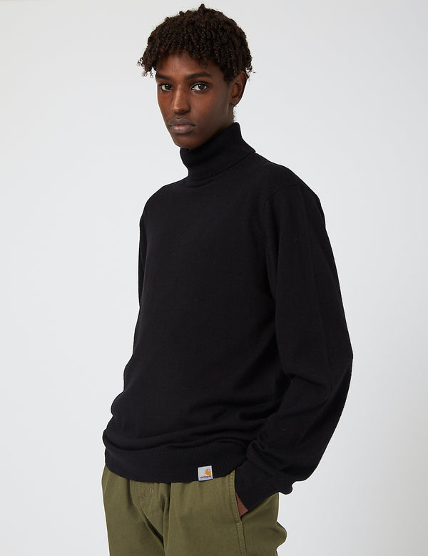 Carhartt-WIP Playoff Turtleneck Sweater (Lambswool) - Black