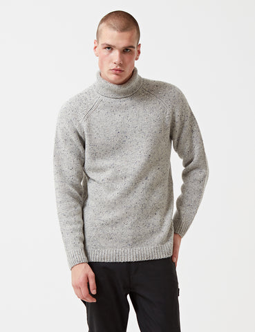 Carhartt Anglistic Turtleneck Knit Jumper - Grey