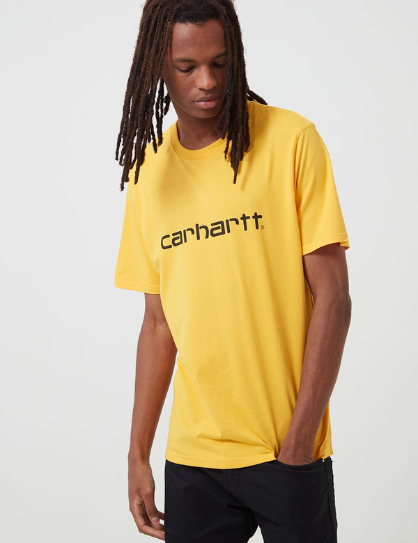 Carhartt-WIP Script T-Shirt - Sunflower/Black