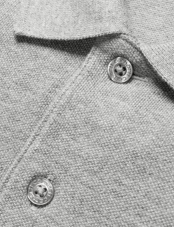 Polo Carhartt-WIP Chase Pique - Gris Chiné/Or