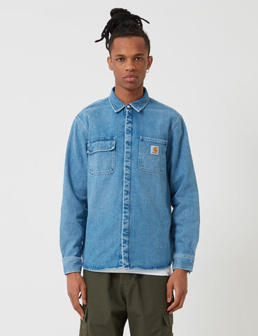 Carhartt Salinac Shirt Jacket - Light Stone Washed Blue