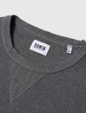 Edwin Long Sleeve Waffle Knit T-Shirt - Dark Grey