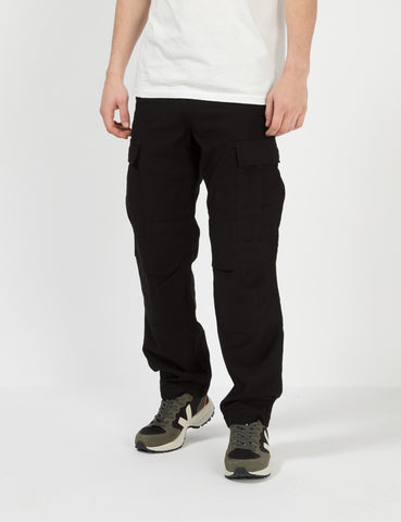 Carhartt-WIP Regular Cargo Pants (Sanders Cotton) - Rinsed Black