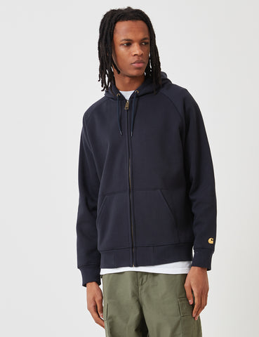 Carhartt Chase Hooded Zip Jacket - Dark Navy Blue