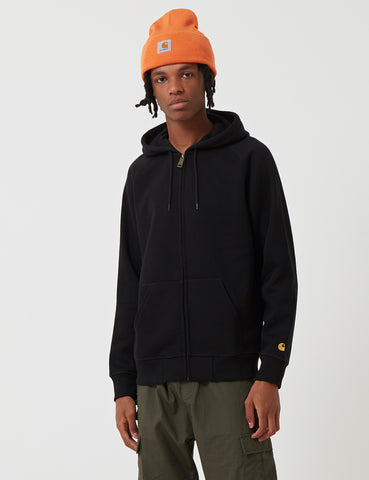 Carhartt Chase Hooded Zip Jacket - Black