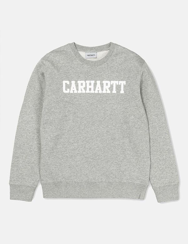 Carhartt-WIP College Sweatshirt - Grey Heather/White