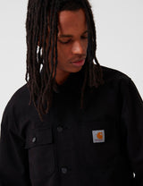 Carhartt-WIP Michigan Coat (Cotton Newcomb Drill) - Black