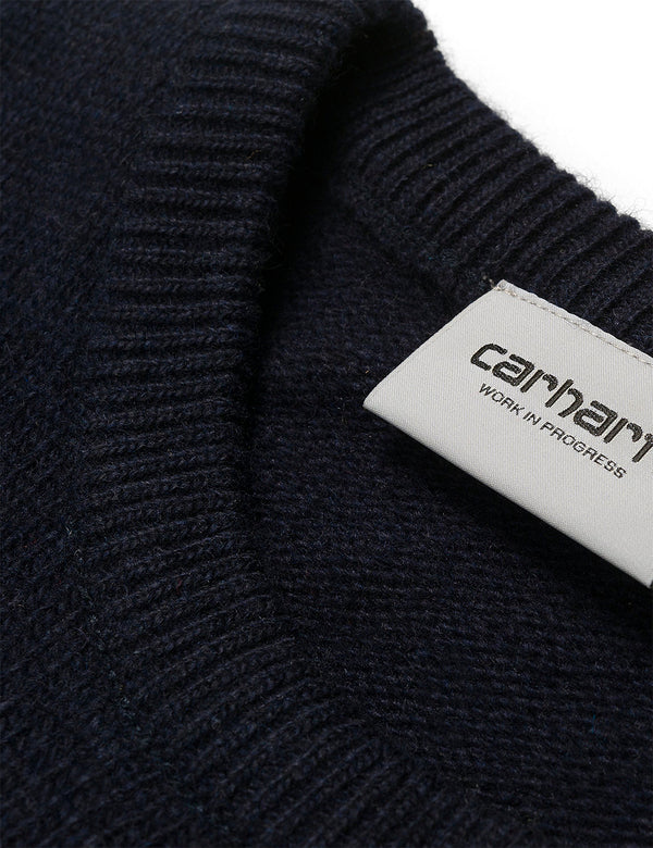 Carhartt-WIP Allen Sweater - Dark Navy Blue