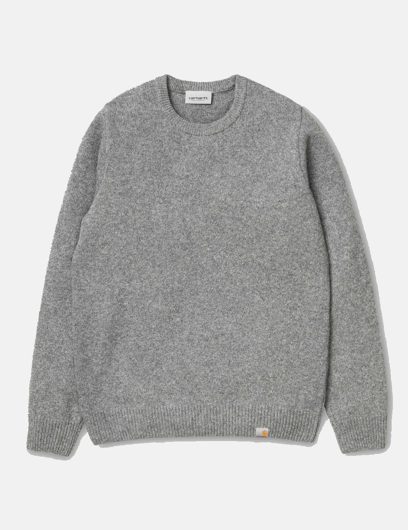 Carhartt-WIP Allen Knit Sweatshirt - Grey Heather
