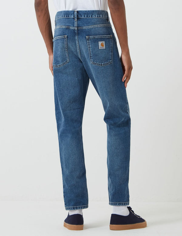 Carhartt-WIP Newel Denim Pant (Relaxed Tapered) - Blue, Mid Worn Wash