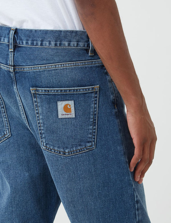 Carhartt-WIP Newel Denim Pant (Relaxed Tapered) - Bleu, Délavage moyen