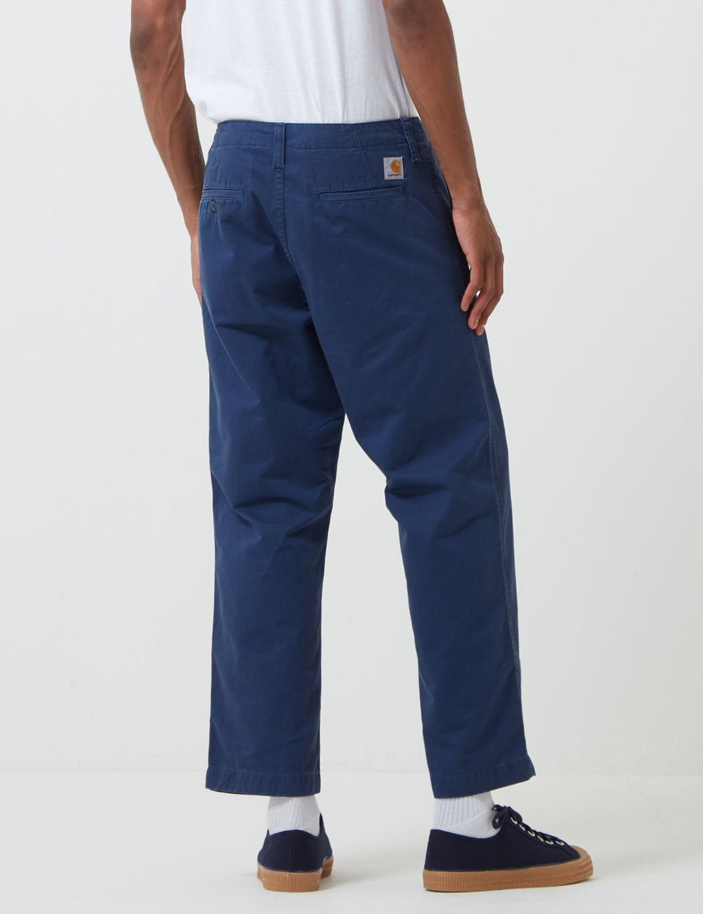 W31 L32 Val Blue Stone Washed Trousers Carhartt Fatigue Pant