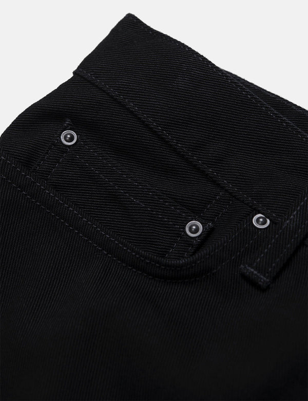Pantalon Carhartt-WIP Klondike Regular Tapered (Maitland Denim, 13,5 oz) - Noir rincé