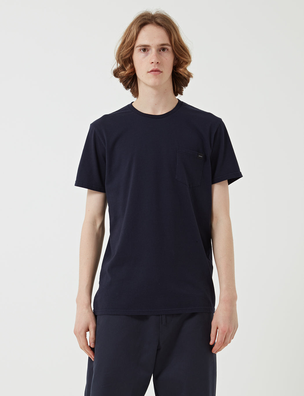 Edwin Pocket Jersey T-Shirt - Navy Blue