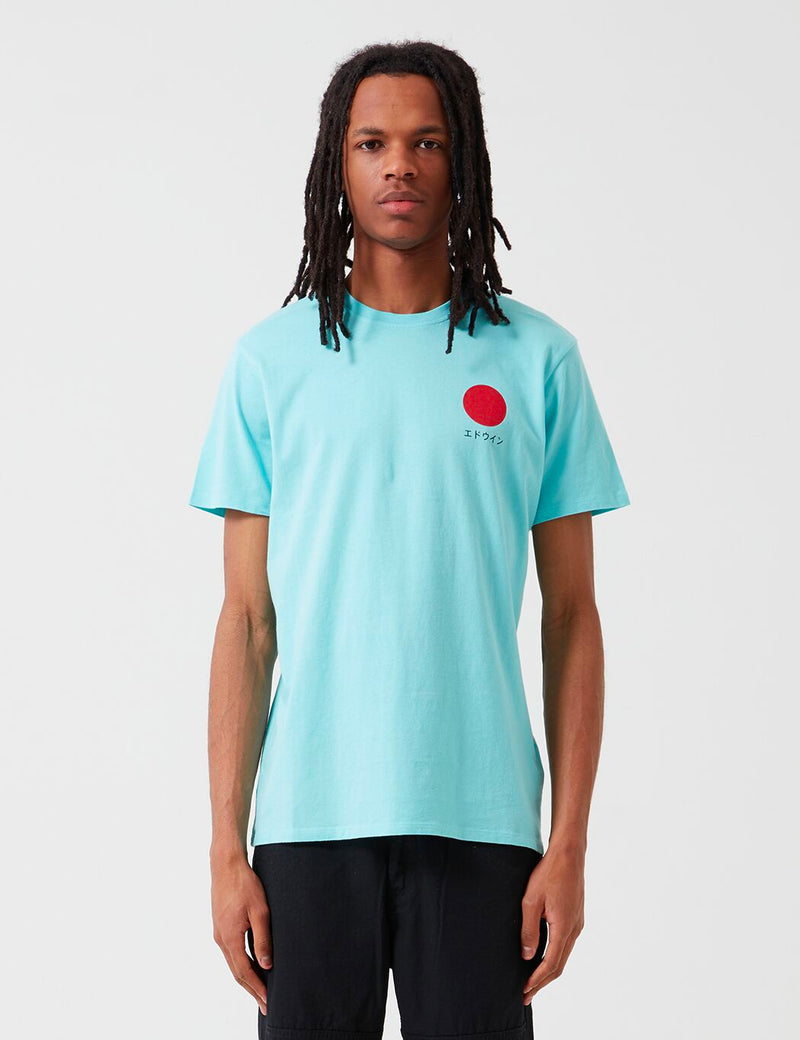 Edwin Japanese Sun T-Shirt - Angel Blue