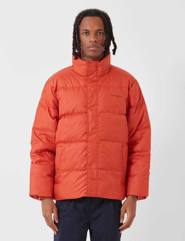Carhartt-WIP Deming Jacket (Down) - Brick Orange / Black