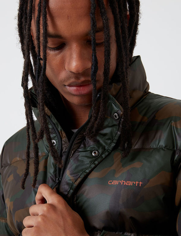 Carhartt-WIP Deming Jacket - Evergreen Camo/Brick