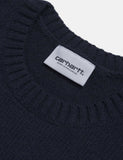 Carhartt Goldner Knit Sweatshirt - Goldner Stripe / Dark Navy Blue