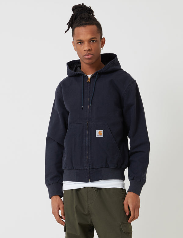 Carhartt-WIP Active Jacket - Dark Navy Blue Rinsed