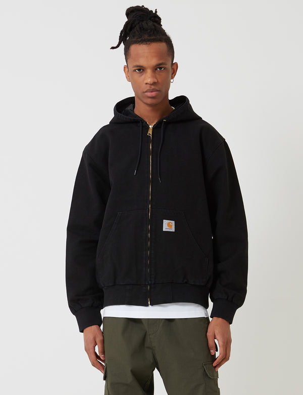 Carhartt-WIP Active Jacket - Black Rinsed