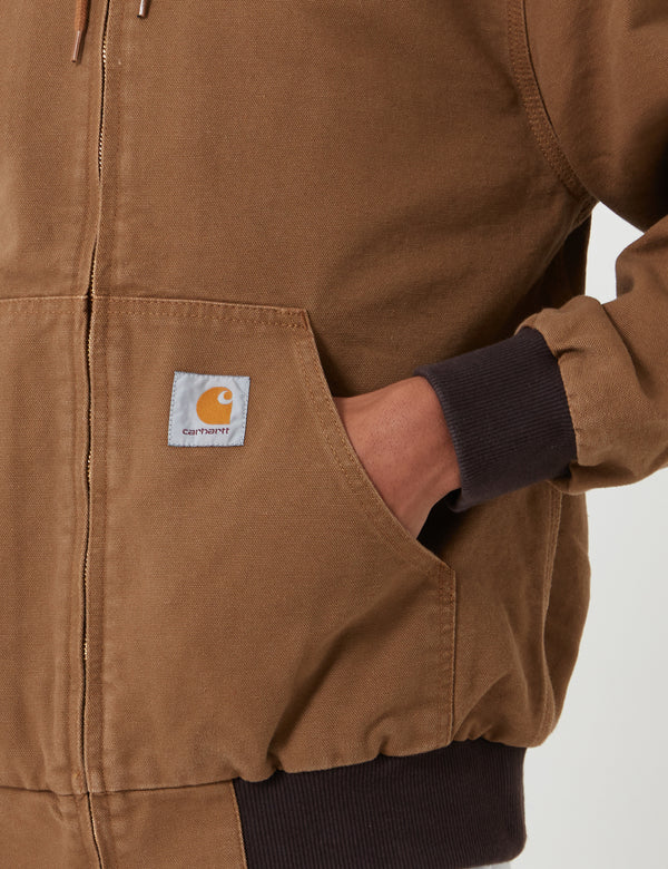 Carhartt-WIP Active Jacket - Hamilton Brown Rinsed