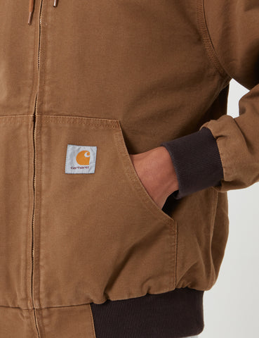 Carhartt Active Jacket - Hamilton Brown Rinsed
