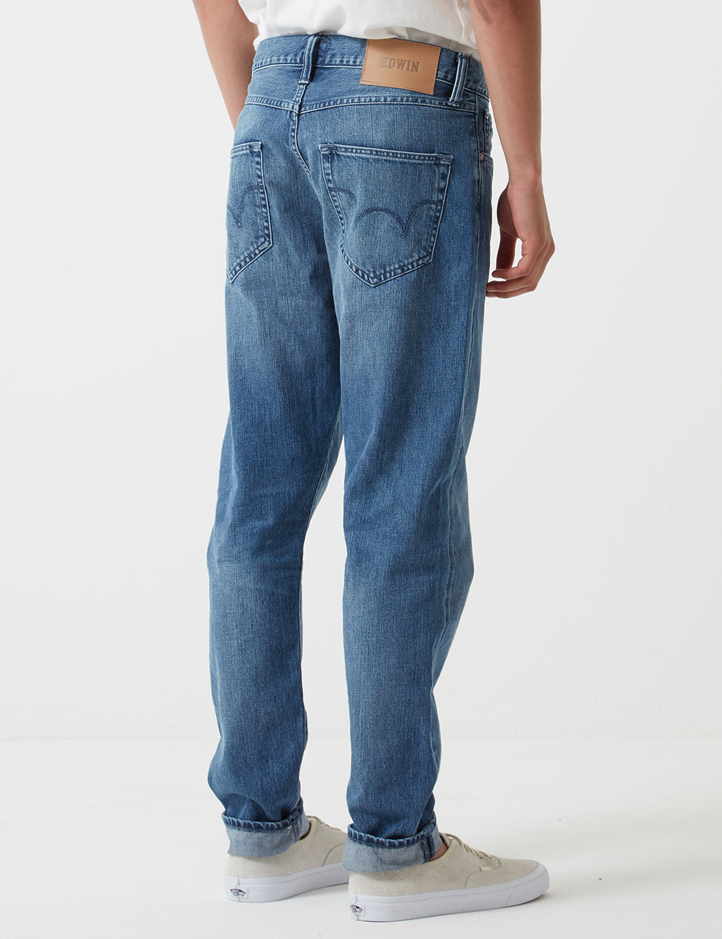 Edwin ED-45 Kingston Blue Denim Jeans 12oz (Loose Tapered) - Blue Rinsed