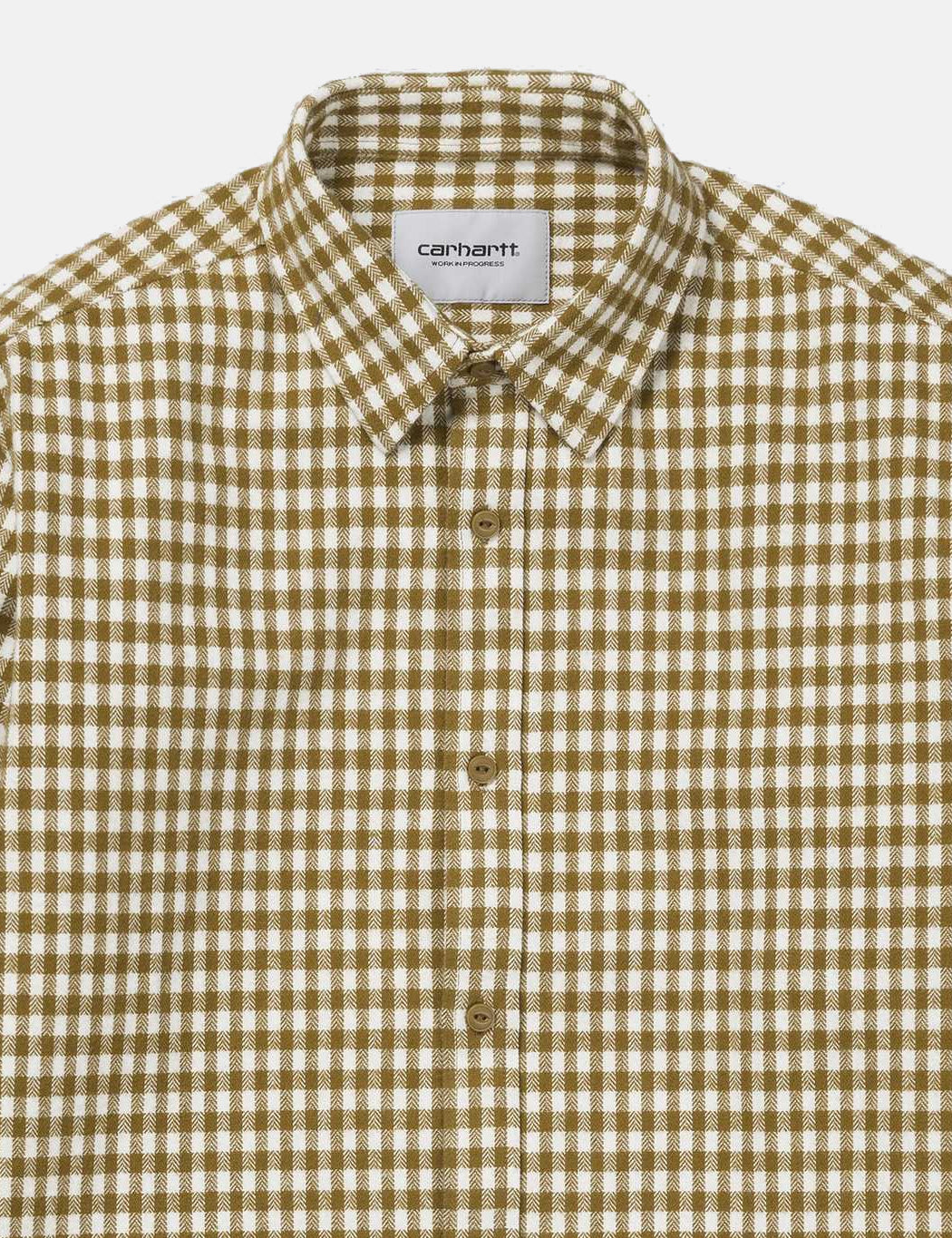 Carhartt Long Sleeve Stawell Check Shirt - Hamilton Brown/White