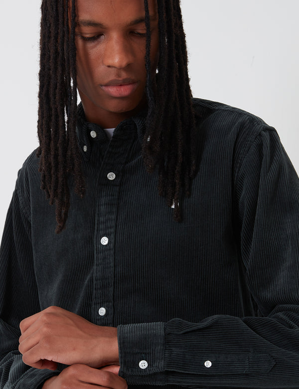 Chemise Carhartt-WIP Madison Cord - Dark Teal/Wax