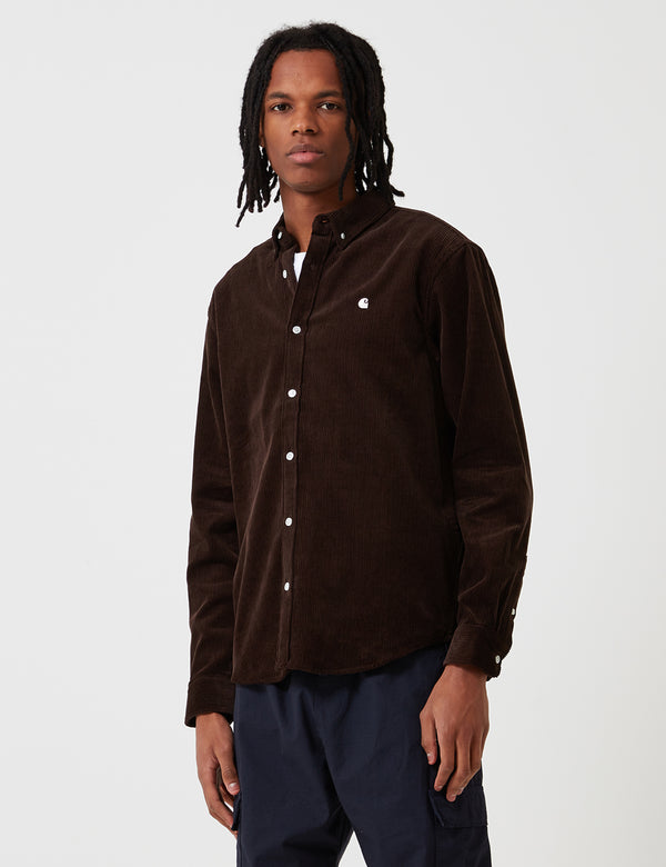Carhartt-WIP Madison Cord Shirt - Tobacco Brown/Wax