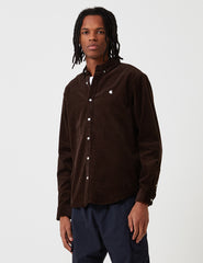 Carhartt Madison Cord Shirt - Tobacco Brown/Wax