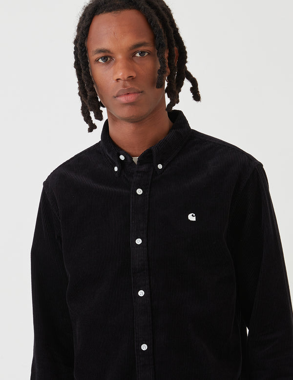 Carhartt-WIP Madison Cord Shirt - Black / White