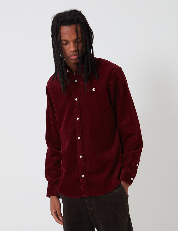 Carhartt-WIP Madison Cord Shirt - Bordeaux/Wax