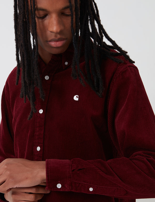 Chemise Carhartt-WIP Madison Cord - Bordeaux/Wax