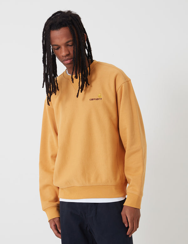 Sweat Carhartt-WIP American Script - Winter Sun