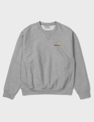 Carhartt American Script Sweatshirt - Heather Grey