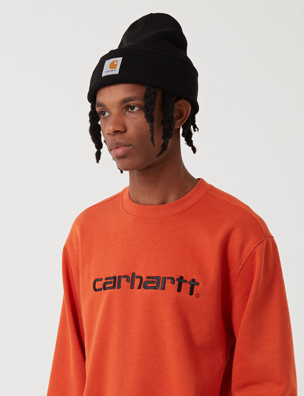 Carhartt OG Logo Sweatshirt - Persimmon Orange