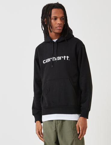 Carhartt Hooded Sweatshirt - Black/White