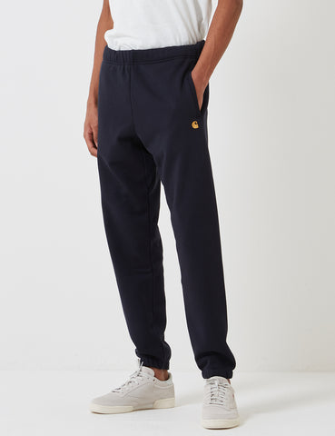 Carhartt-WIP Chase Sweat Pant - Dark Navy Blue