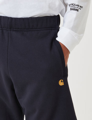 Carhartt-WIP Chase Sweat Shorts - Dark Navy Blue