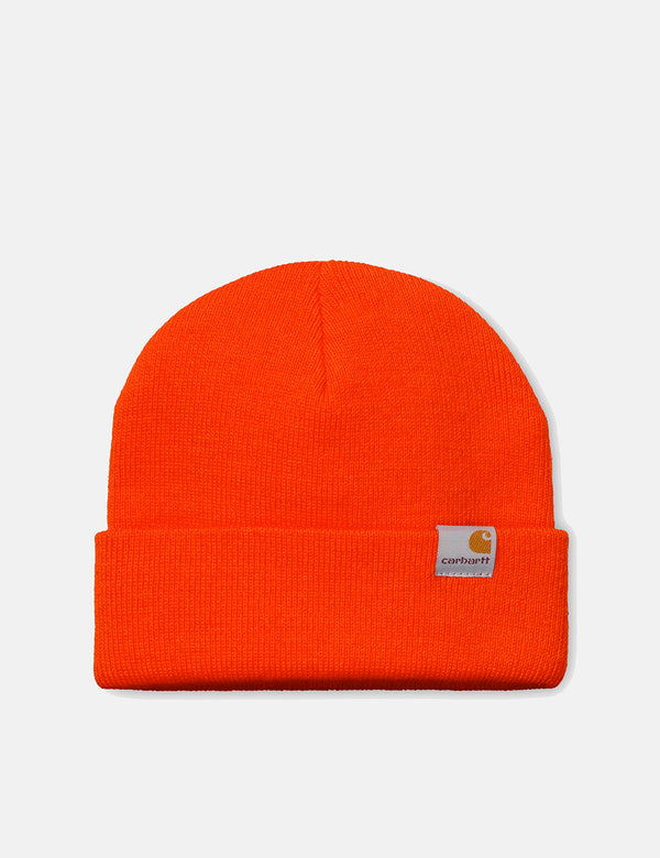 Carhartt-WIP Stratus Hat Low Beanie Hat - Safety Orange