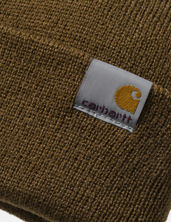 Carhartt-WIP Stratus Low Beanie Hat - Hamilton Brown