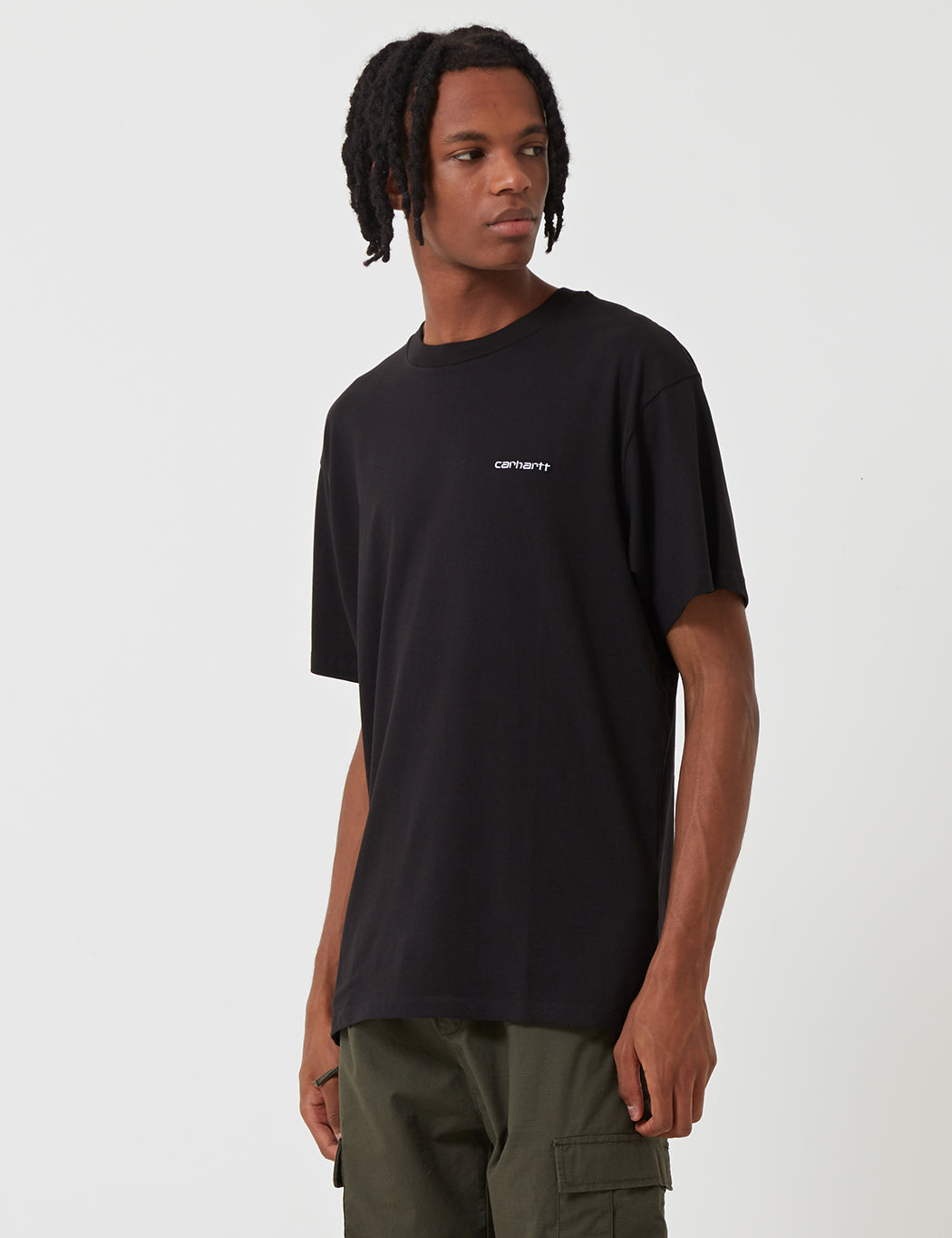 Carhartt Script Embroidery T-Shirt - Black