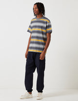 Carhartt-WIP Chemise à Manches Courtes Kress Stripe - Dark Grey Heather