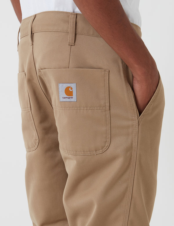 Carhartt-WIP Abbott Pant (Denison Twill, 8.8 oz) - Leather rinsed