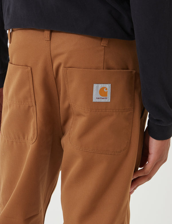 Carhartt-WIP Abbott Pant 'Denison Twill' (Tapered Fit) - Hamilton Brown Rinsed